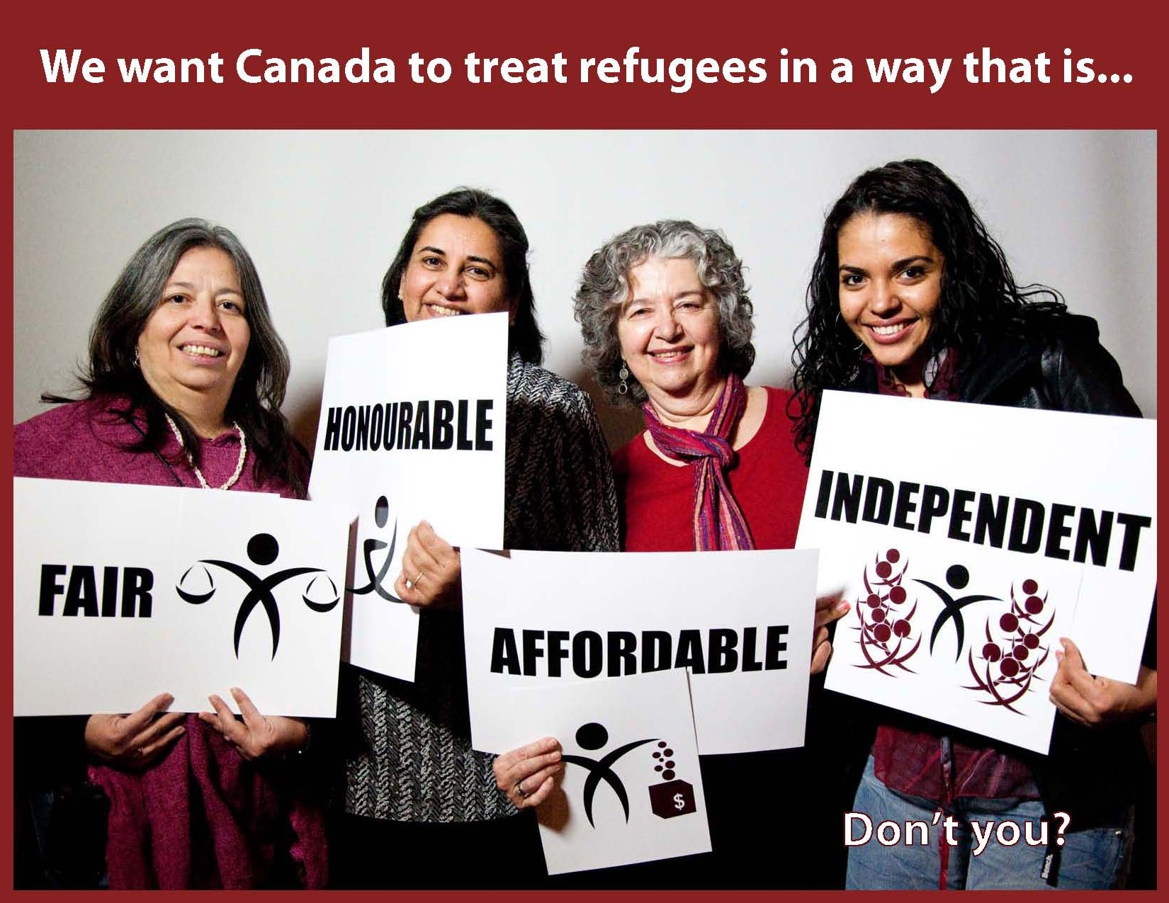 What we want for refugees - 4 women