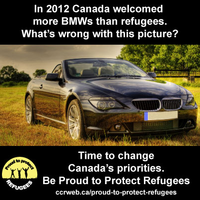 In 2012 Canada welcomed more BMWs than refugees