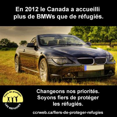 En 2012 le Canada a accueilli plus de BMWs que de réfugiés
