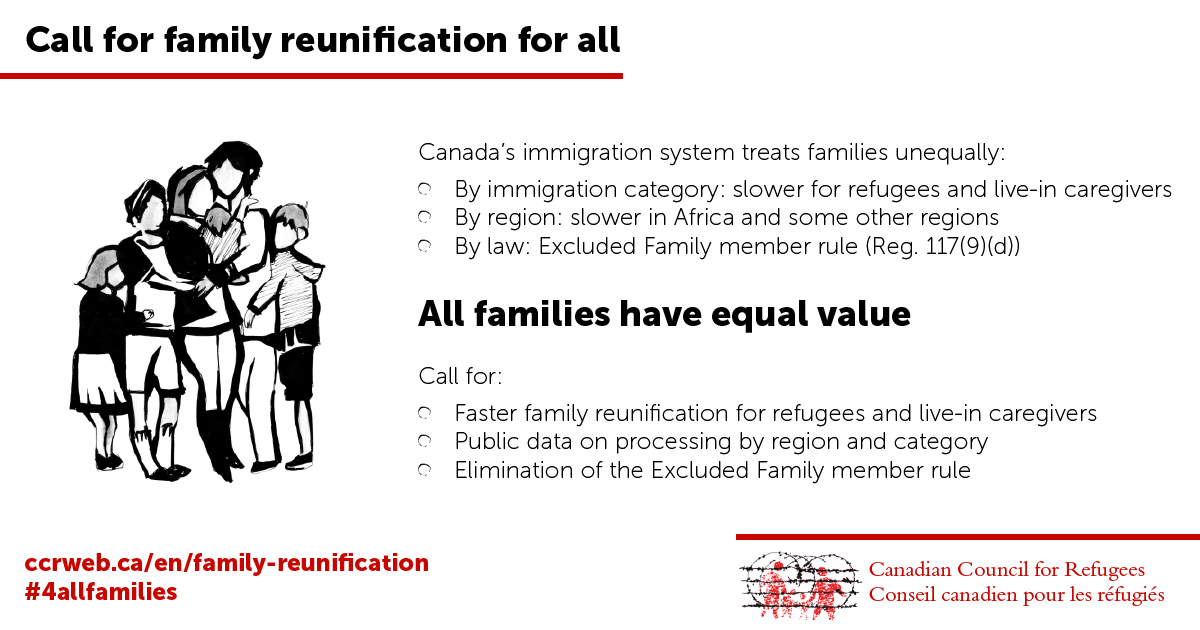 Call for family reunification for all