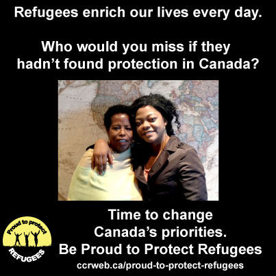 Who would you miss if he or she hadn't found protection in Canada?