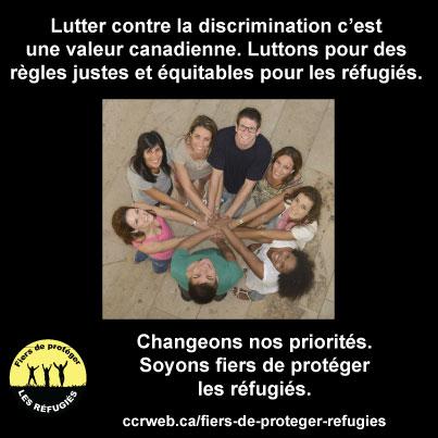 Lutter contre la discrimination est une valeur canadienne