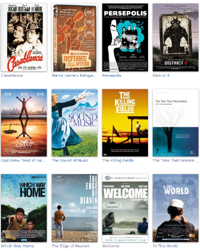Some films about refugees at IMDB.com