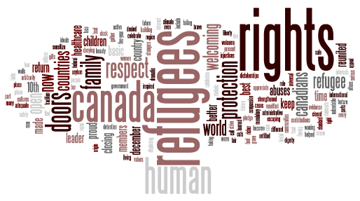 Pledge to stand for a Canada that is strong on rights for refugees