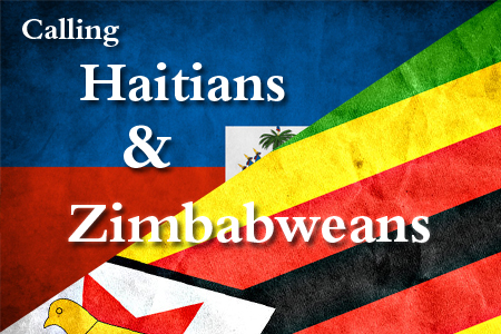 Calling Haitians and Zimbabweans
