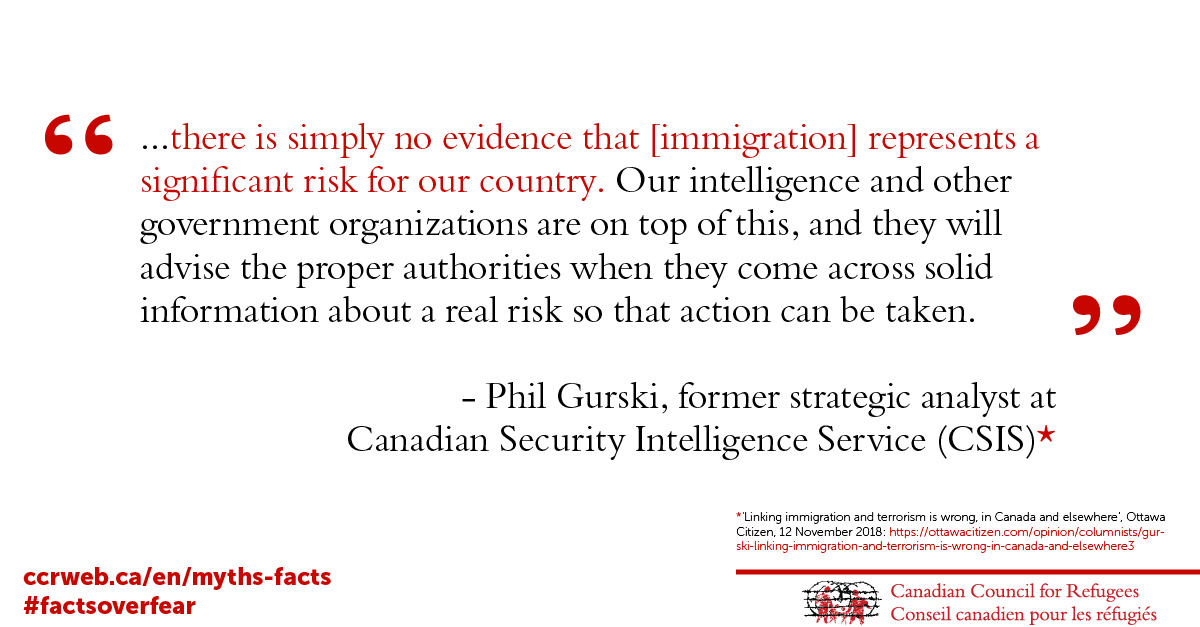 There is simply no evidence that [immigration] represents a significant risk for our country.