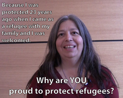 LRico - Because I was protected 23 years ago when I came to Canada as a refugee