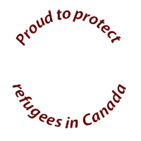 Proud to protect refugees badge
