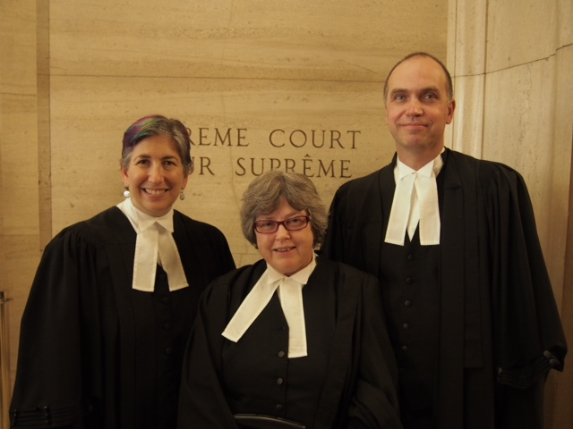 Members of the CCR Legal Affairs Committee at the Supreme Court of Canada