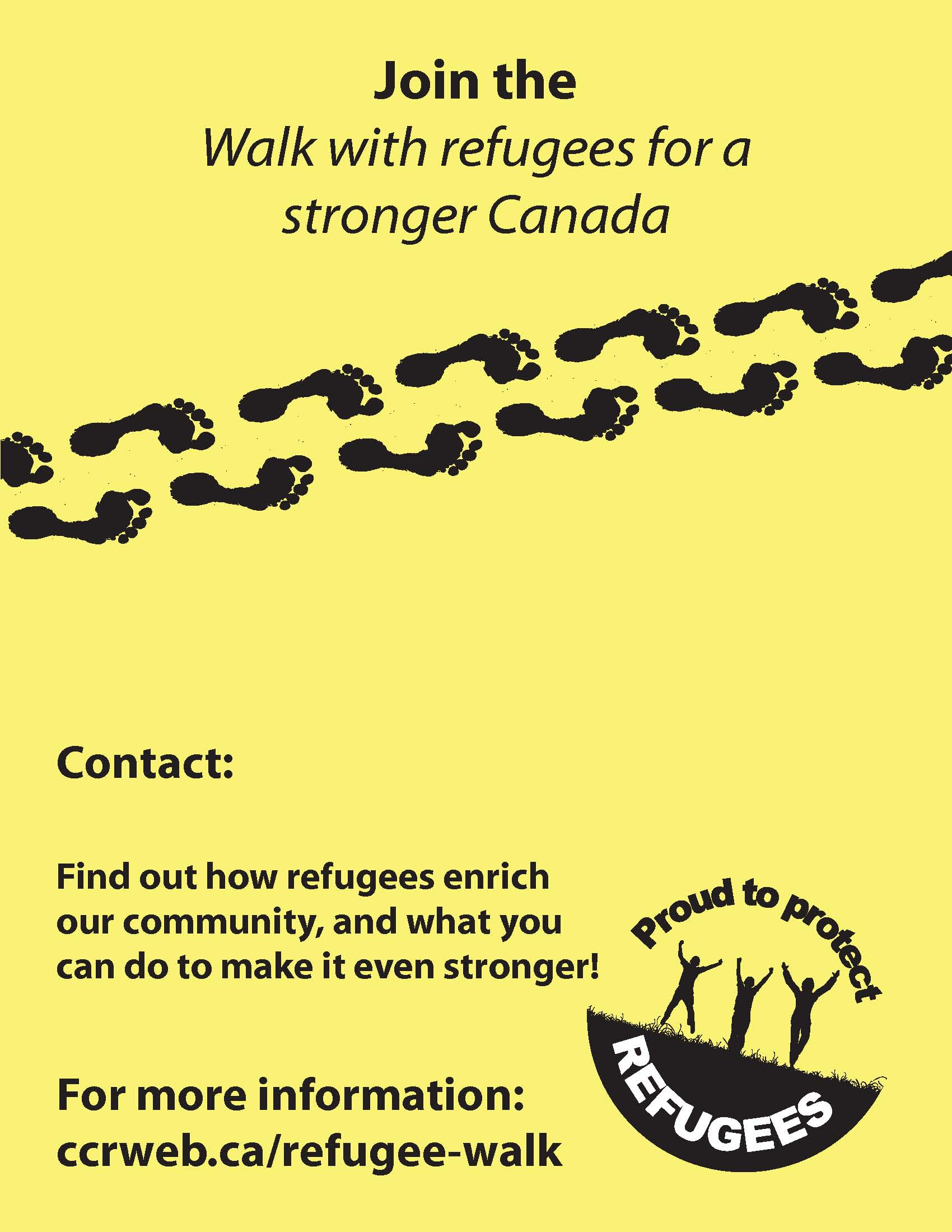 tools for a successful walk with refugees for a stronger