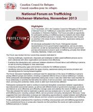 CCR Trafficking Forum Highlights